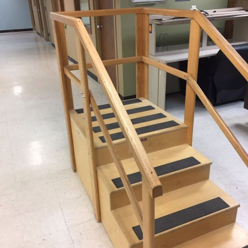Physical therapy one-sided staircase