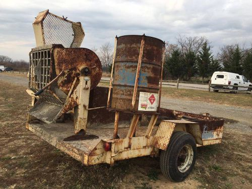 Tgl s/a tag-a-long trailer with concrete mixer masonary grout honda engine