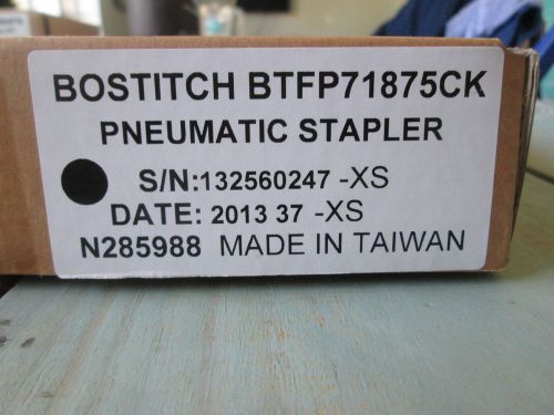 Bostitch pneumatic stapler