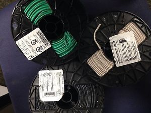 #12 thhn stranded wire. 500' each. white, black, green