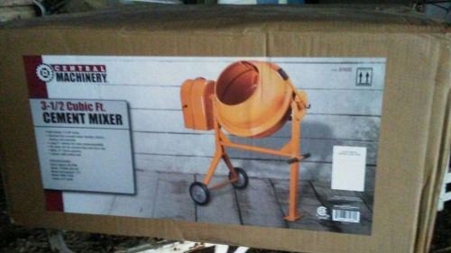 3-1/2 cubic foot portable central machine cement mortar mixer new in box!