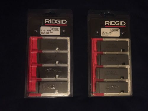 "Ridgid die head 47750 1""""to 2"""" npt and  47745 1/2 to 3/4 ntp"