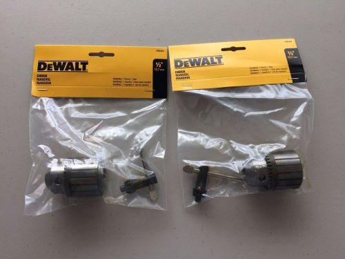 "Lot of 2 dewalt dw5353 1/2"" chuck and key new in packages"