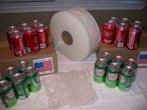 Six pack beer and soda rings - 1000 on a roll-made in usa - fast-free shipping