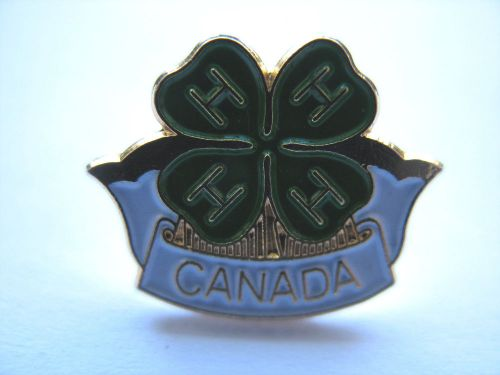 Four h canada lapel pin