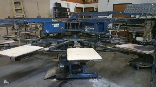 M & r challenger automatic screen printing press