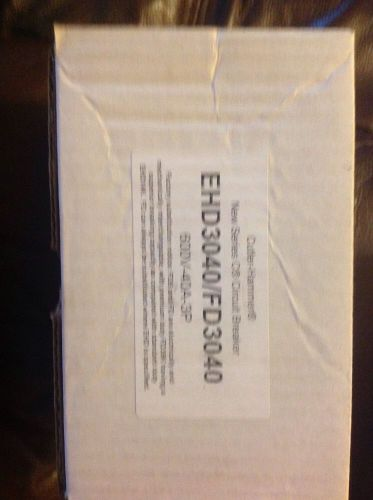 EHD3040 NEW IN BOX - Cutler Hammer / Eaton  Circuit Breaker  600V, US $150.00 � Picture 1