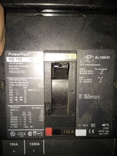 Square D - HDA36150 - 150amps - Power Pact HD150, US $600.00 – Picture 1