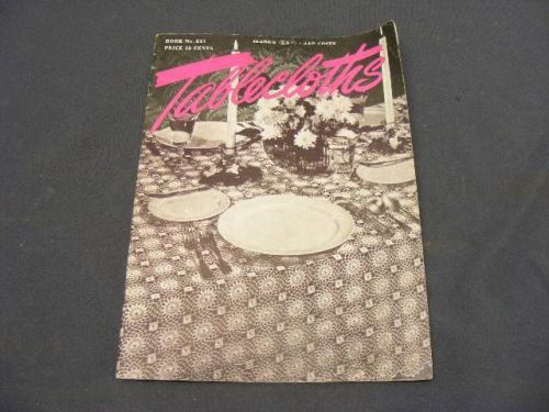 1947 Book #231 Clarks J&P Tablecloths Book of CROCHET CROSS-STITCH, US $8.04 – Picture 1