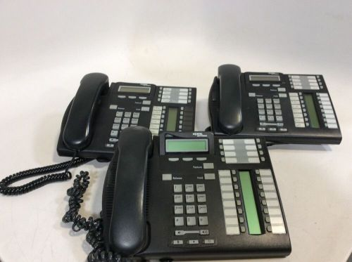Lot of 3 nortel networks business phones t7316e