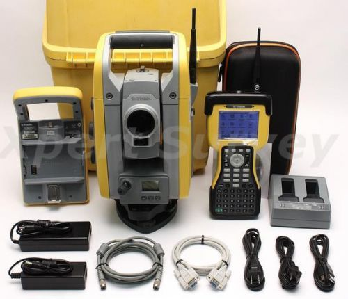 "Trimble sps700 dr 300+ 5""/2"" robotic total station w/ tsc2 2.4ghz controller"