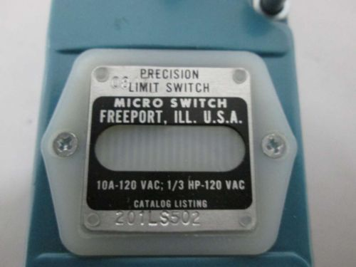 NEW HONEYWELL 201LS502 MICRO SWITCH LIMIT SWITCH 120V-AC 10A AMP D359647, US $23.75 � Picture 4