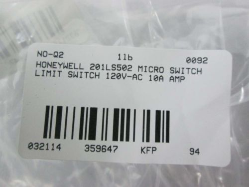 NEW HONEYWELL 201LS502 MICRO SWITCH LIMIT SWITCH 120V-AC 10A AMP D359647, US $23.75 � Picture 8