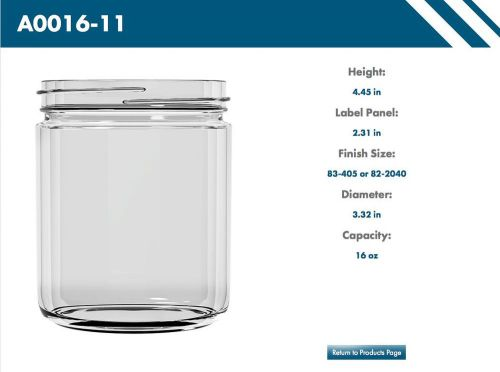 16 oz glass jars - perfect for jam, jelly, salsa, etc. (10 case minimum)