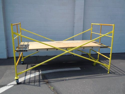 10ft x 5ft dual plank 3 wheel yellow scaffolding