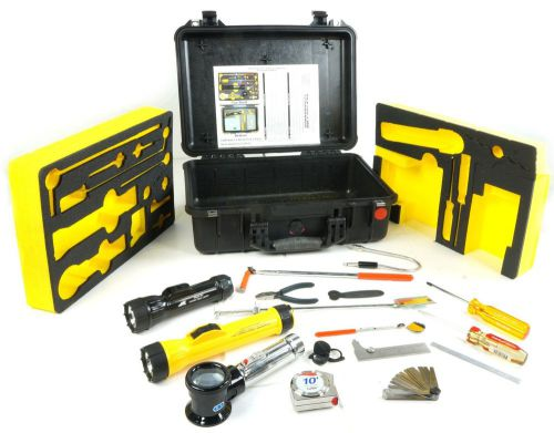 Kipper aviation inspection tool kit set w pelican 1500 case with 2 starret tools
