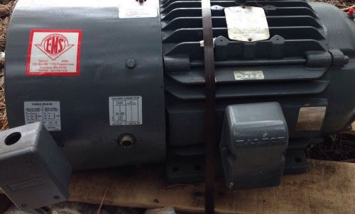 Electric baldor motor 1765 rpm 15 hp 230/460 volts for pump or misc new refurb
