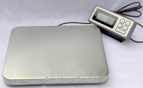 Amston scales 400 lb x 0.1 lb digital postal postage shipping scale stainless