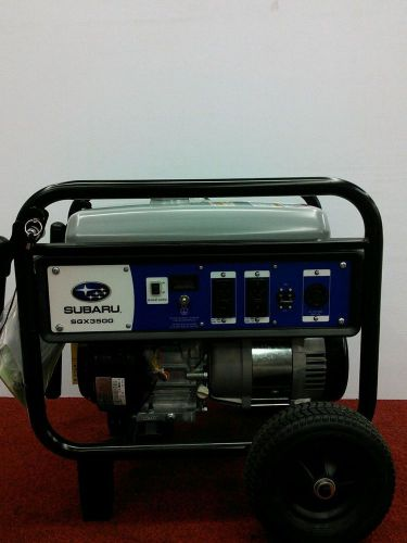 Subaru sgx3500 3200 w portable gas generator a powerhouse great for home