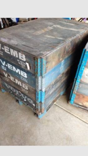 3 Volvo V Emb Foldable Modular Wood Crates Containers