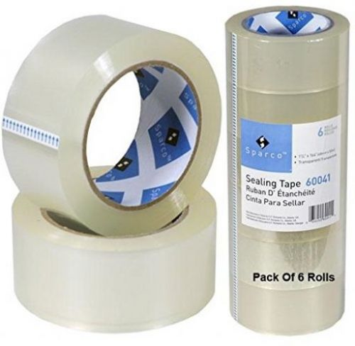 S.p. richards company package sealing tape, 3 core, 1-7/8 x 164 feet, 6-pack, a