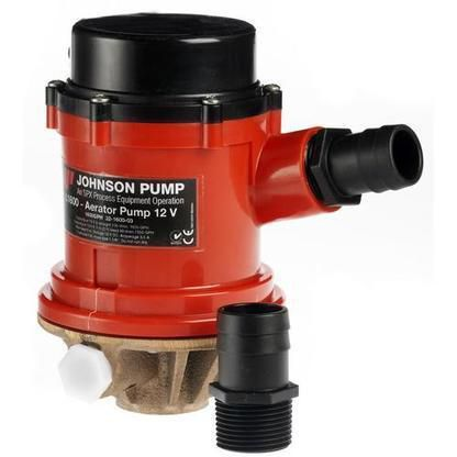 Johnson pump pro series 1600gph tournament livewell/baitwell pump - 24v a795-491