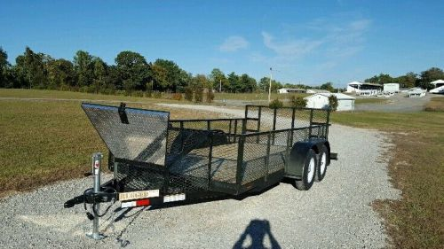 Landscape equipment trailer