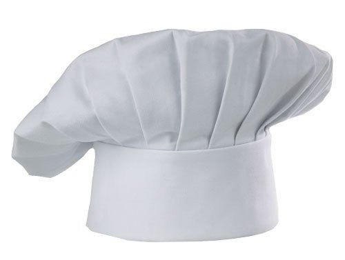 Chef hat usa seller cloth one size fit most catering baker hat white elastic new
