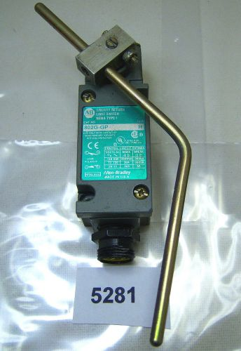 (5281)b allen bradley gravity return limit switch 802g-gp  nema 1
