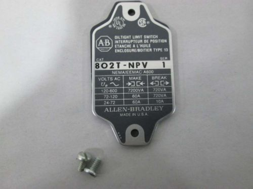 NEW ALLEN BRADLEY 802T-NPV OILTIGHT LIMIT SWITCH SER 1 D367328, US $109.43 � Picture 3