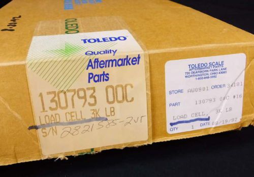Mettler Toledo Scale Load Cell 743 3,000 lbs  15V AC/DC NEW NOS