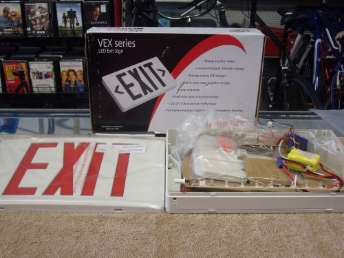 Exitronix Emergency Lighting Vex Series Led Exit Sign