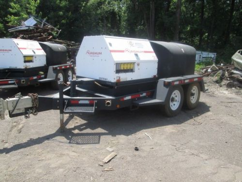 2012 mq multiquip 25kw gen set ~ 12085hrs ~ magnum potable water tank towable ~