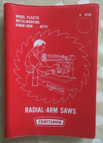 1969 craftsman radial arm saw tools manual  sears roebuck know-how cat no 9-2938