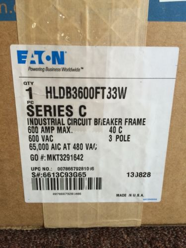 Cutler Hammer HLDB3600FT33W600 AMP 3 Pole Breaker, US $5,000.00 – Picture 4
