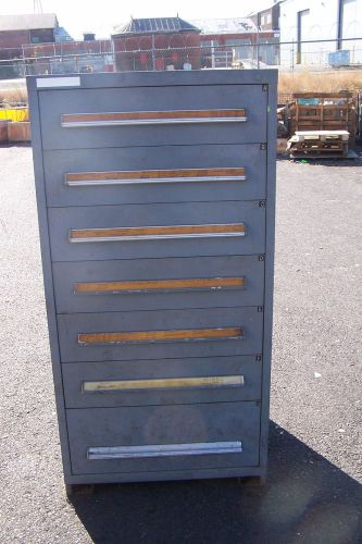 "STANLEY VIDMAR GREY 7 DRAWER INDUSTRIAL TOOL/PARTS CABINET 30""L X 28""W X 59"" H � Picture 1"
