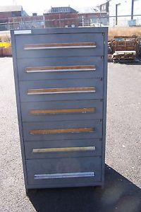 "STANLEY VIDMAR GREY 7 DRAWER INDUSTRIAL TOOL/PARTS CABINET 30""L X 28""W X 59"" H � Picture 2"