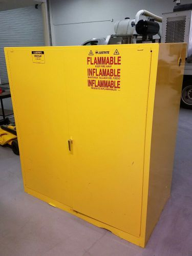 Justrite 90 gallon vertical 2-drum safety cabinet