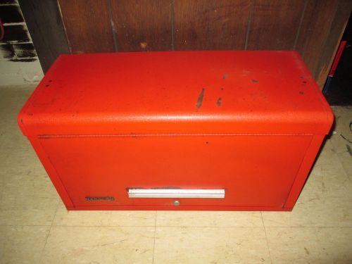 "Kennedy mechanics machinist chest tool box 6-drawer 26"" x 12"" x 14"" red"