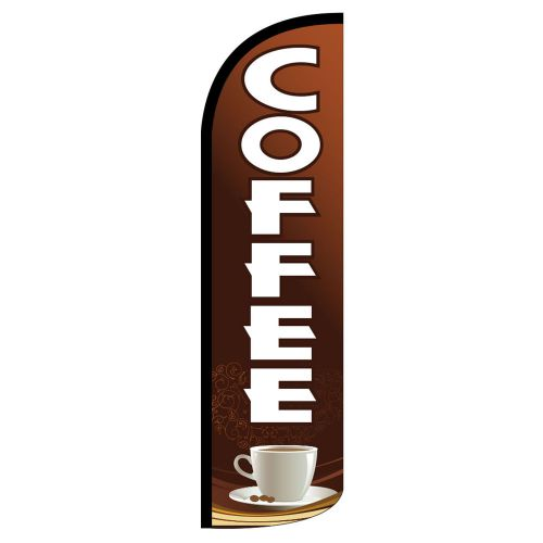 Coffee windless full sleeve swooper flag deluxe flutter banner / pole made usa