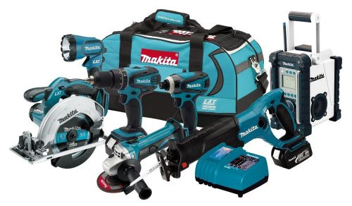 Makita 7 piece tool18-volt lxt lithium-ion cordless 7-piece combo free shipping