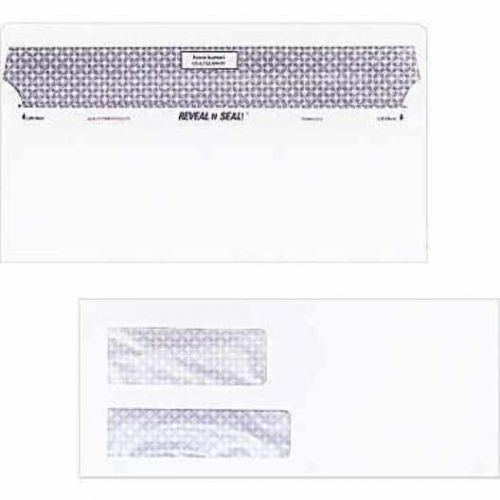 Staples reveal-n-seal privacy tinted dbl wdw #10 envelopes, 500 ct (28730)