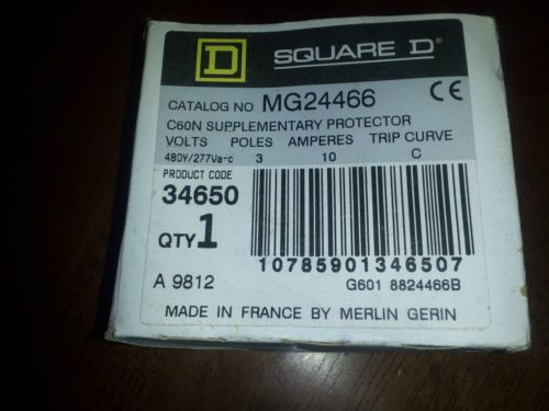 MG24466 Circuit breaker SQUARE D  Merlin Gerin C60N 10A-type C 480VAC 3 POLE, US $65.00 � Picture 2