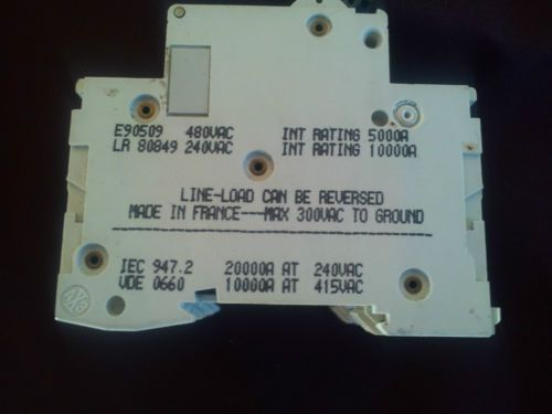 MG24466 Circuit breaker SQUARE D  Merlin Gerin C60N 10A-type C 480VAC 3 POLE, US $65.00 � Picture 3