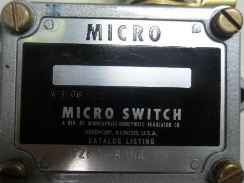 (r2-2) 1 used micro switch bzf23an4rh