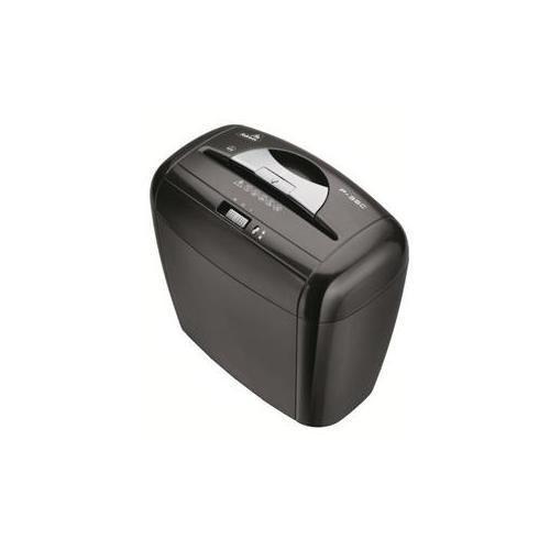 universal paper shredder Throat width: 220mm cross shred: 3 x 25mm sheet capacity(a4/80g): 9-10sheets dimension cm: 35x26x55 (w d h.