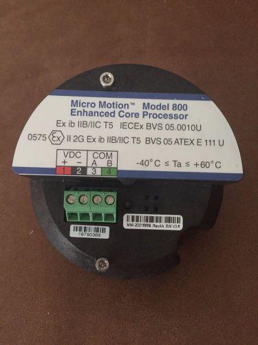 MICRO MOTION ENHANCED CORE PROCESSOR Model 800 ...