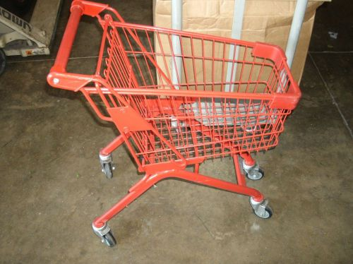 Kid's child's red metal shopping cart retail & resale store fixture equipment