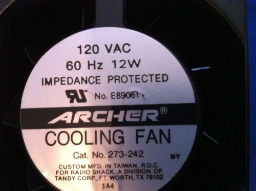 Archer Radio Shack Brushless Dc Fan E89061 Cat No 273 242