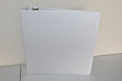 "2"" simply view binder with round rings white"